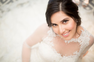 bride sitting Miami wedding photographers