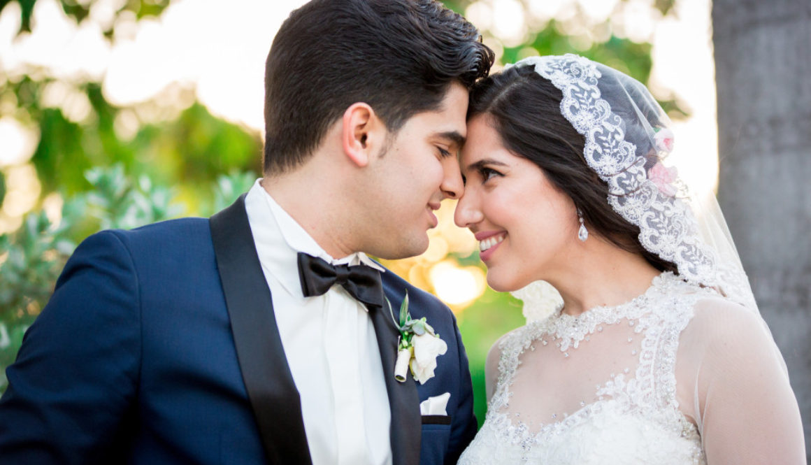 Miami wedding photographer forehead touch